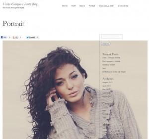 Portraits page
